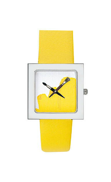 Akteo Watch Paint Kubik Lady Yellow