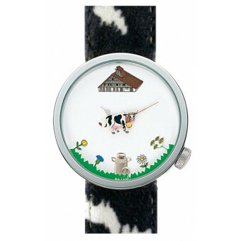 Akteo Horloge Cow Black 48 mm